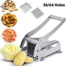 Acier inoxydable Frites Trancheuse Pommes de terre Chipper Chip Cutter Chopper