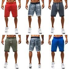 Unifarbene Herren-Shorts aus Baumwollmischung mit regular Länge