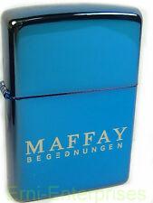Zippo Peter Maffay encuentros Limited Edition azul xxx/250 nuevo de 2007