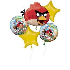 Angry Birds Party Supplies Foil Mylar Balloon Bouquet 5pc.
