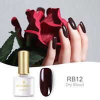 6ml BORN PRETTY Soak off UV Gel Nail Polish Varnish Red Series BP-RB12 Dry Blood