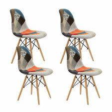 Artiss Retro Replica X4 Multicolor Dining Chairs - BABBDSWFARICX4