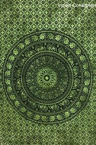 Poster Small Tapestry Cotton Elephant Mandala Indian Handmade Cotton Textile