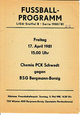 DDR-Liga 80/81 ZEPA Bergmann cruzcampo Berlin-BSG Chemie PCK multisectoriales 03.05.1981