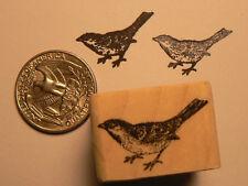 "P24 Miniature Sparrow 0.5x0.7"" WM Rubber Stamp"