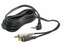 2 RCA phono to 3.5mm jack lead 3.6m extension aux input MP3 iPod iPhone CT29AX10