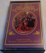BEST OF THE GREAT COMPOSERS Tape Cassette VARIOUS ARTISTS Madacy Canada