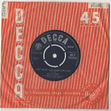 """Billy Fury - Last Night Was Made For Love 7"""" Sgl 1962"""