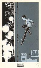Ex-libris sérigraphie ZENTAK 1998 Espace BD Saut ex signé 17,5x28,5
