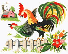 VinTaGe IMaGe XL CounTrY FaRM RooSTeRs ShaBby DeCALs ~FuRNiTuRe SiZe~