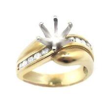 0.35 ROUND CUT DIAMOND ENGAGEMENT RING MOUNTING SETTING YG