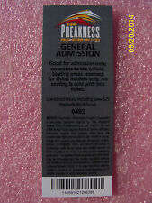 CALIFORNIA CHROME  - 2014 OFFICIAL PREAKNESS 139 GENERAL ADMISSION TICKET - MINT