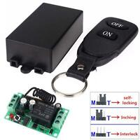 DC 12V 10A Relay 1CH Wireless RF Remote Control Switch Transmitter Receiver NEW*