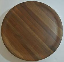 "12 1/4"" LAZY SUSAN Solid American Walnut Wood DID WARE Pedestal Rotating Plate"