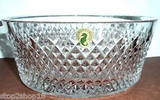 "Waterford ALANA 8"" Bowl Diamond Cut Crystal #150424 Retail $325 New Boxed"