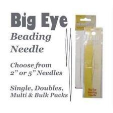 """Beadsmith Big Eye Needle Beading Needles Choose 2"""" or 5"""" or Multi-Pack"""