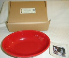 Longaberger Pottery Oval Vegetable serving Bowl Tomato Woven Traditions New