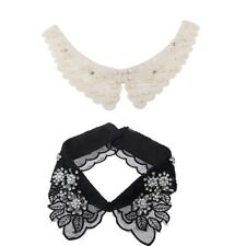 2PC Choker Necklace Women Peter Pan Detachable Lapel Shirt Fake False Collar