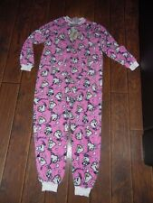 DISNEY ALL IN ONE CHIP BEAUTY AND THE BEAST NEW 10-12 PJS PYJAMAS MRS POTTS SUIT