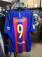 Nike 2016 2017 Laudrup XL FC Barcelona Home Shirt Jersey Camiseta Kit NWT