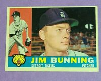 Jim Bunning Detroit Tigers 1960 Topps #502 EX-EXMT Centering only issue