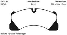 EBC Yellowstuff Brake Pad Set Front for 10-19 Cayenne / Panamera #DP41835R