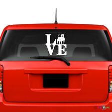 Love American Bulldog Windshield Sticker Vinyl Auto Window park bully