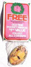 Vtg 1973 Rare Coca Cola Soda Pop Advertising Oval Fridge Girl Pocket Mirror #3