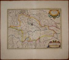 stampa antica Mantova Lombardia ducato janssonius old print kupferstich 1640