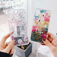 Fahion Flamingo Quicksand TPU Phone Cover For iPhone 11 Max X XR Xs 7 8 SE 2020