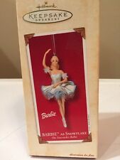 HALLMARK Keepsake 2002 BARBIE AS SNOWFLAKE Nutcracker Ballet CHRISTMAS ORNAMENT