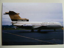 Channel Airways, Trident One, G-AVYE, Glasgow Airport, 1969, new postcard