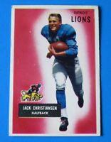 1955 BOWMAN JACK CHRISTIANSEN FOOTBALL CARD #28 ~ VG+