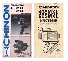 Chinon 40SMXL 60SMXL Direct Sound Orignal Instruction Manual Only Lot of 2