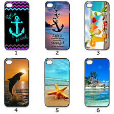 For Phone Hard Case Cover Beach Nautical Inspired Artistic Collection 23