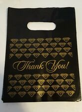 """Black/gold """"Thank You"""" jewelry bags, 25, 7"""", stores, vendors, direct sales"""