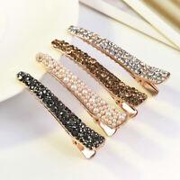 Luxury Women's Giltter Headwear Full Crystal Hair Clip Barrette Hairpin Style