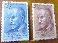 EBS Czechoslovakia 1950 - Josef Gregor-Tajovský - Michel 636-637 CTO