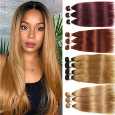 Clearance Sew-In Straight 8A Indian Remy Human Hair 4/3/2/1 Bundles Weave Weft T