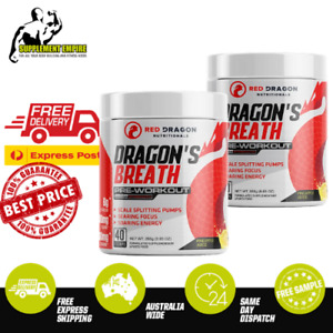 2 X Red Dragon Dragons Breath Extreme Pre Workout Preworkout 40 Serves TWIN PACK