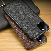 For New Apple iPhone 11 Pro Max Real Genuine Leather Shockproof Back Cover Case