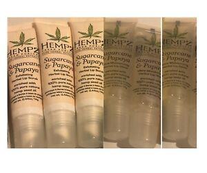 Hempz Lip Balm & Sugarcane and Papaya Lip Scrub & Lip Gloss Lot of 6
