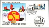 BRD 1988: Arbeiter-Samariter-Bund! FDC der Nr. 1394 mit Bonner Stempeln! 1909