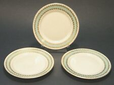 """3 Pc EMBASSY TURQUOiSE GOLD BAND ROSENTHAL CONTiNENTAL 6"""" BREAD DESSERT PLATE's"""