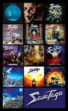 "SAVATAGE album discography magnet (4.5"" x 3.5"")"