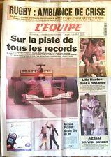 L'Equipe Journal 20/3/2001; Schumacher sur la piste de tous les records/ Agassi