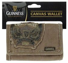 Men's Official Guinness Canvas Wings Wallet Rugged Style Coins Card Money Cash