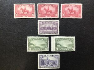 Canada - Scott# 223-226 KGV Pictorial Issue 1935 Mint