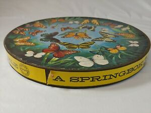 Vintage Springbok Circular Butterflies Puzzle 1966