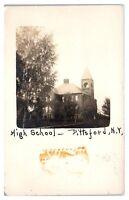Early 1900s RPPC Pittsford, NY High School Real Photo Postcard